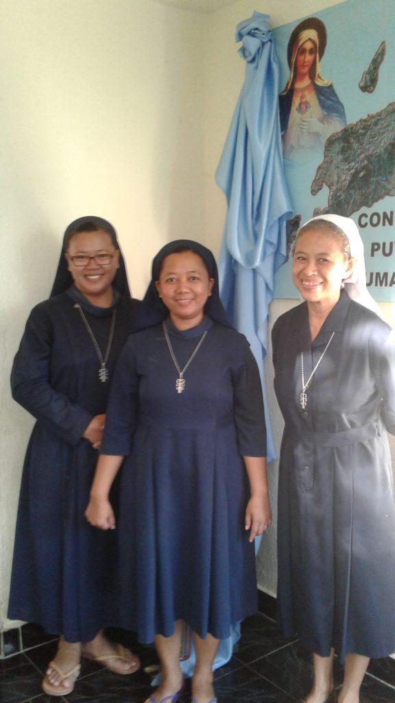 Zusters van Timor Leste: Zr Anastasia, Zr Ingnatia en Zr Marga
