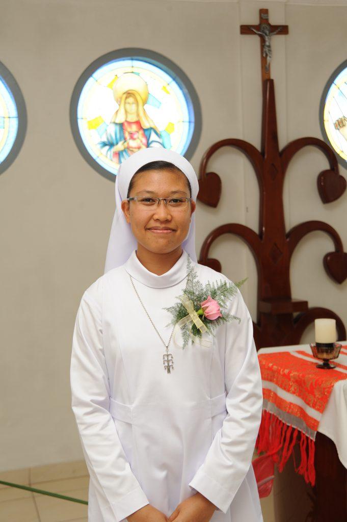 Zuster Fransiska heeft de eeuwige geloften gedaan.